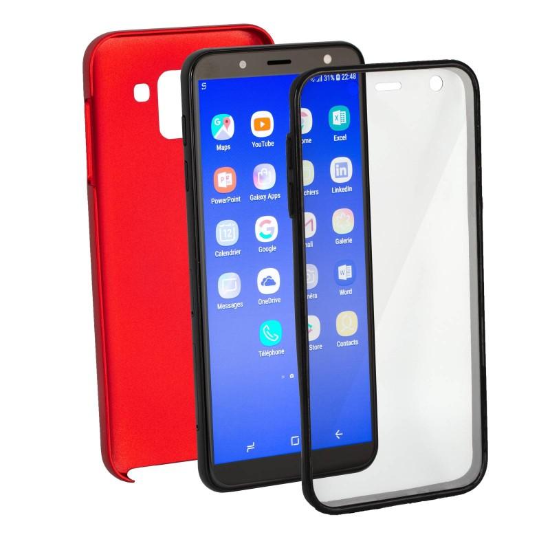 Coque en silicone 360 Rouge
