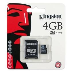 Carte Mémoire Micro SD 4Go Avec Adaptateur