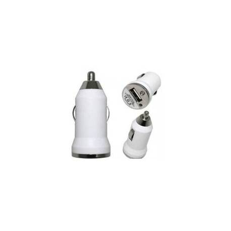 Mini Adaptateur Allume Cigare USB Blanc/Noir/Rose/ Bleu